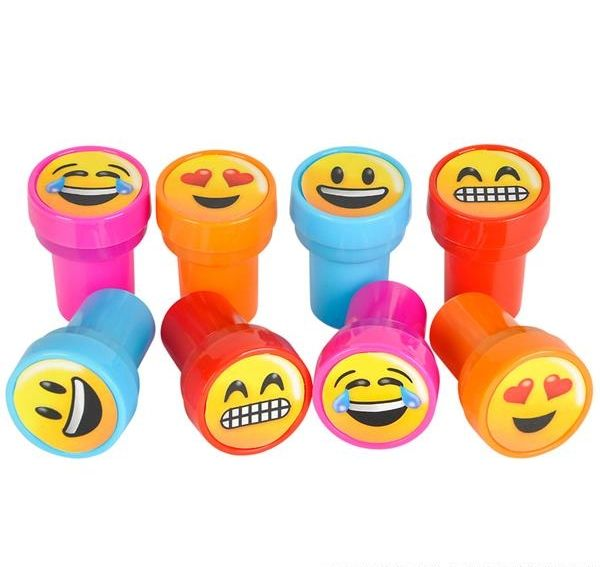 Emoji ink stamps set of 4 smileys novelty stationery for Emoji ink
