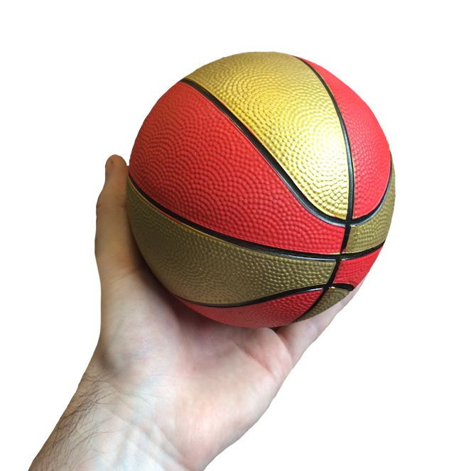 Small Toy Basketball : Mini basketball red gold sports gift