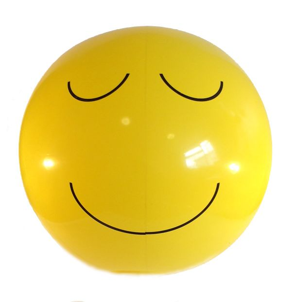 Emoji Beach Ball Relaxed Relieved Face Emoticon
