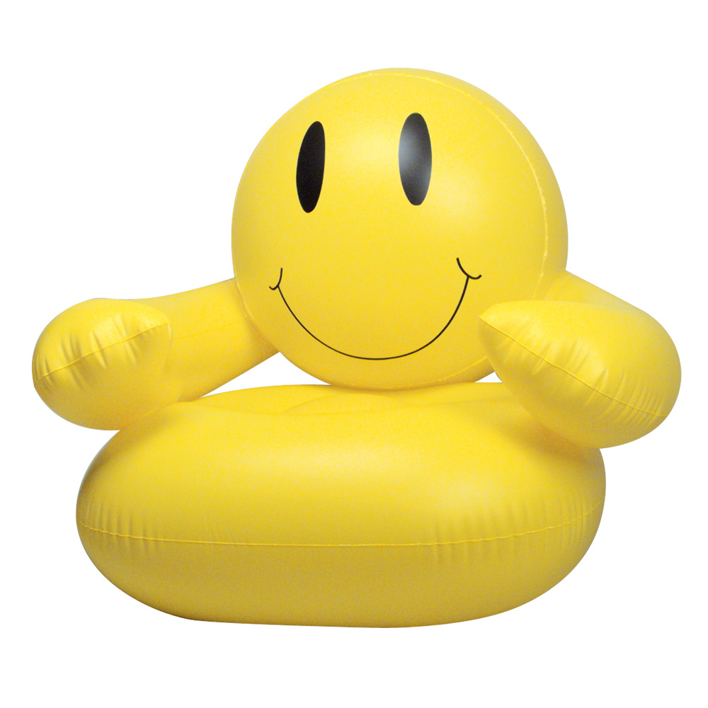 Smile Man Inflatable Chair Novelty Blow Up Furniture