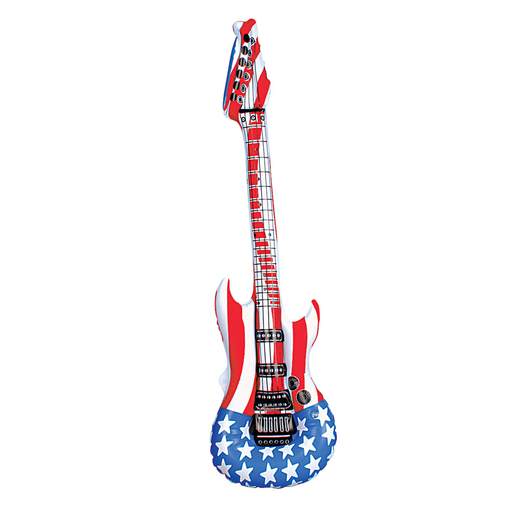 inflatable american guitar blow up instrument toy. Black Bedroom Furniture Sets. Home Design Ideas