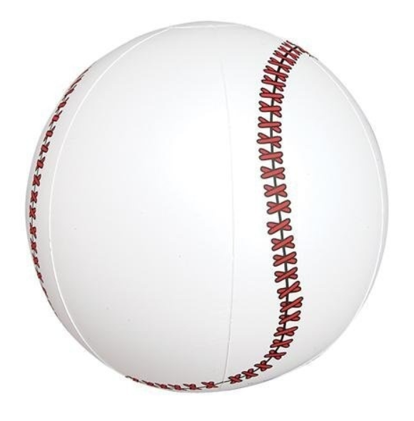 Baseball Beach Ball Inflatable Low Cost Sports Blow Ups