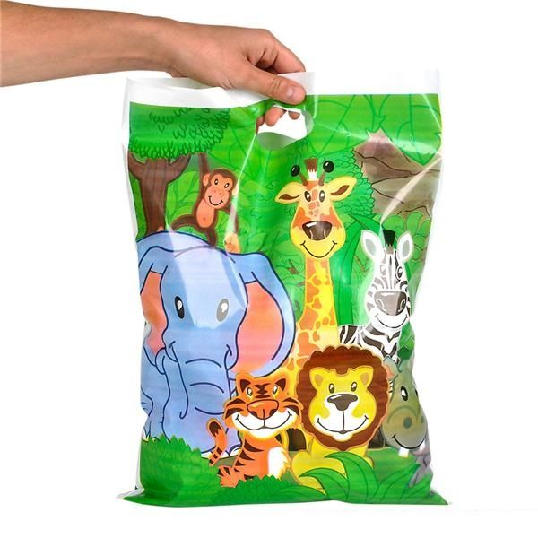 Birthday Party Bag Zoo Animal Pack of 6 Kids Party Supplies