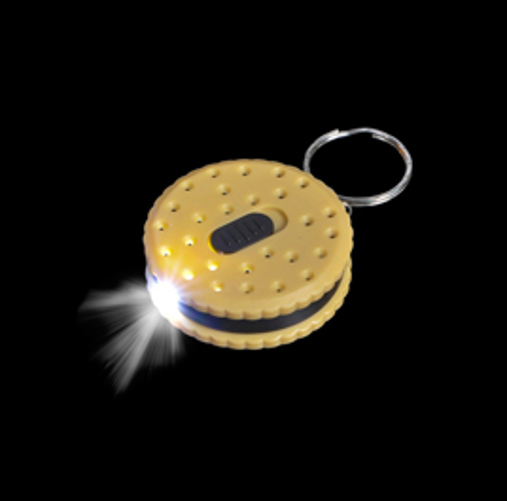 Chocolate Cream Biscuit Torch Led Keyring Novelty Keyrings