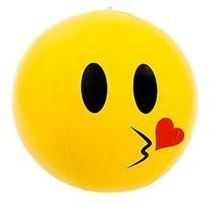 Emoji Beach Ball | Blow Kiss Face | Emoticon Inflatable