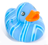 Blue Stripe Rubber Duck