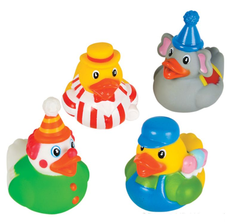 Circus Carnival Rubber Ducks X 4 Themed Novelty Rubber Ducks