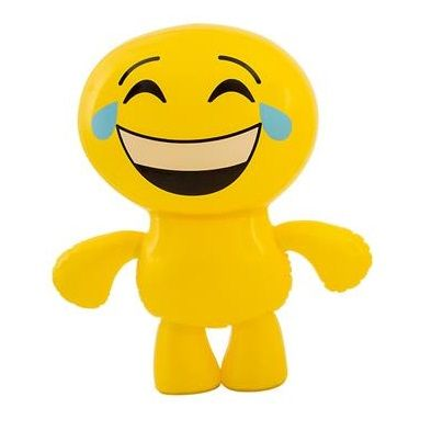 crying laughing inflatable emoji man