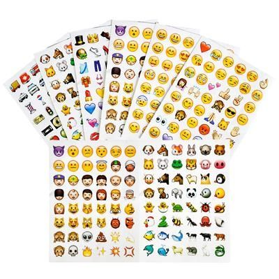 Emoji Amp Smiley Face Stickers Pack Of 288 Stickers Emoji