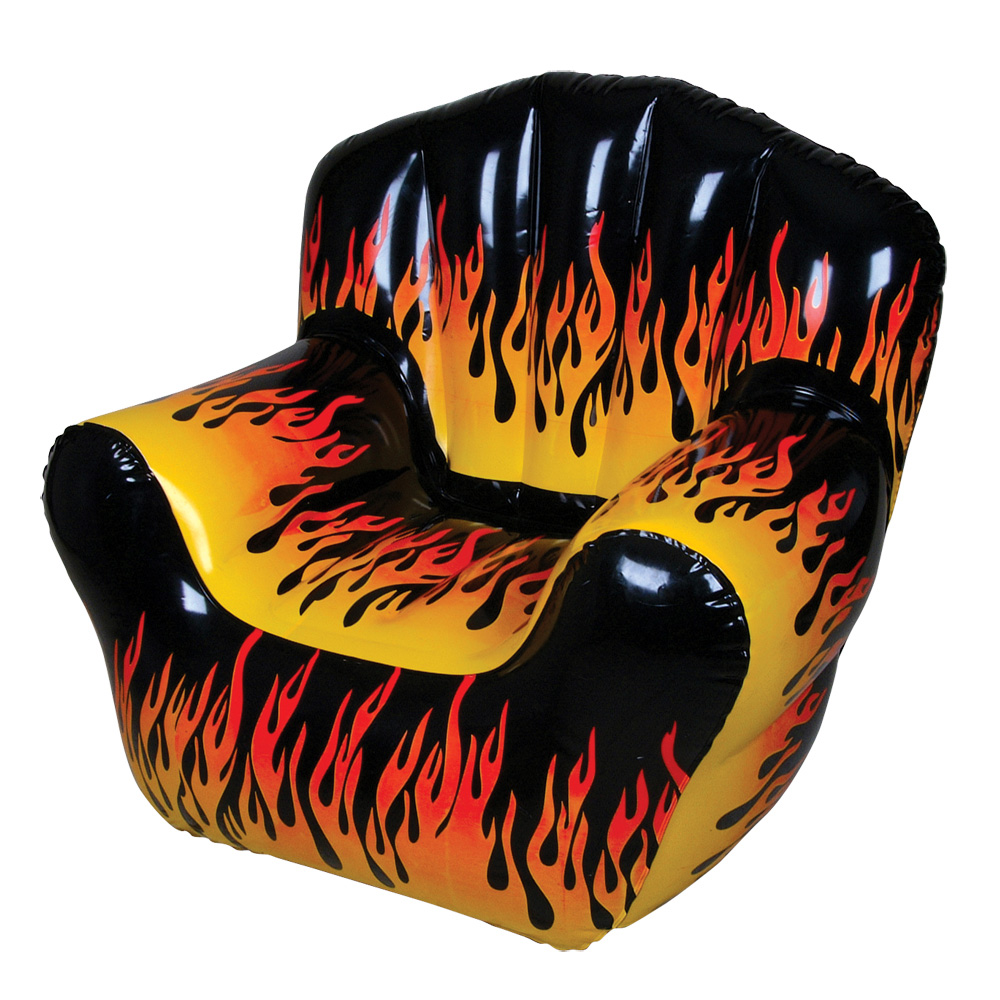 Inflatable Flame Chair : Party Novelty Inflatables