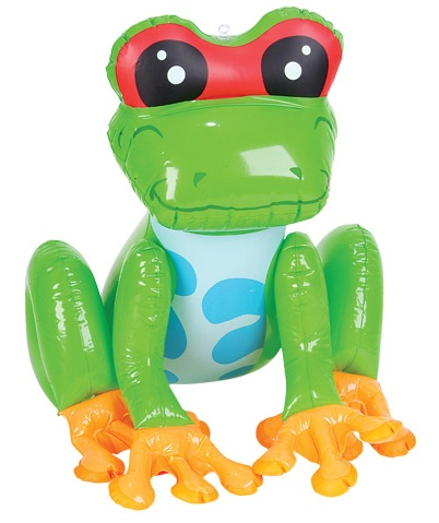Inflatable 24 Inch Frog Toy Blow Up Animals For Kids