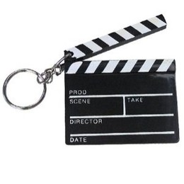 Hollywood Clapboard Keychain | Low Cost Gifts | Novelty Keyrings