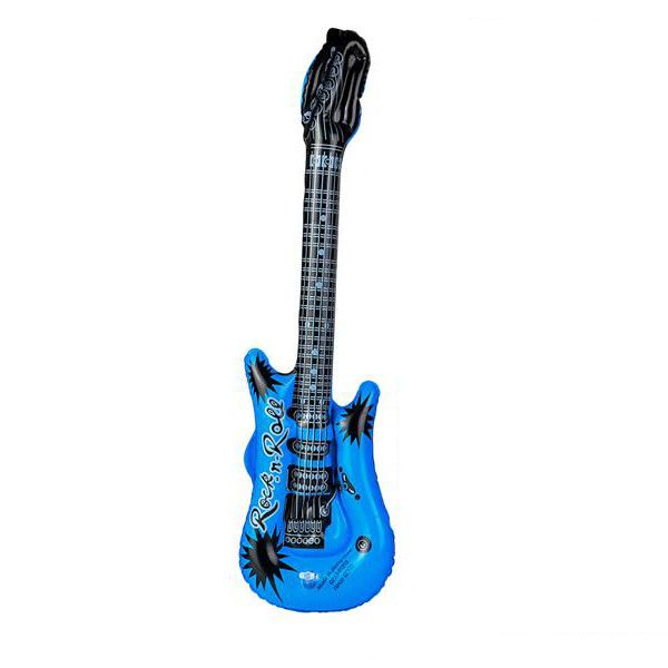 Inflatable Rock And Roll Guitar 4 Colours Kids Blow Up Toy