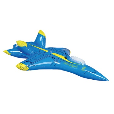 Inflatable Jet Plane Party Stuff Blow Up Toy Vehicle
