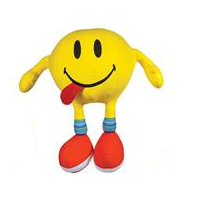 Novelty Emoji Soft Plush Toy - Tongue Out Smiley | Kids Gift