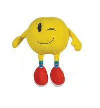 Novelty Emoji Soft Plush Toy - Winking Smiley Gift