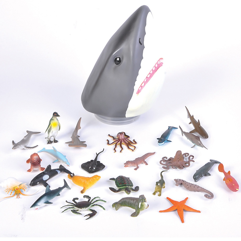 Lego Shark Toys For Boys : Shark head sea life storage case figurines party
