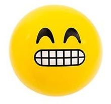 Emoji Beach Ball |Teeth Grimace Face | Emoticon Inflatable