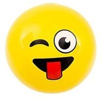Emoji Beach Ball |Tongue Out Wink Face | Emoticon Inflatable