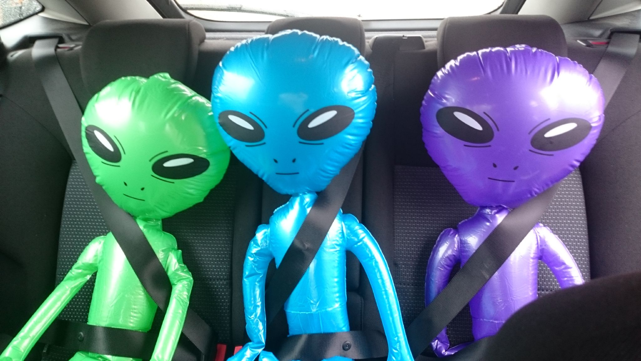 Inflatable Aliens in the Car