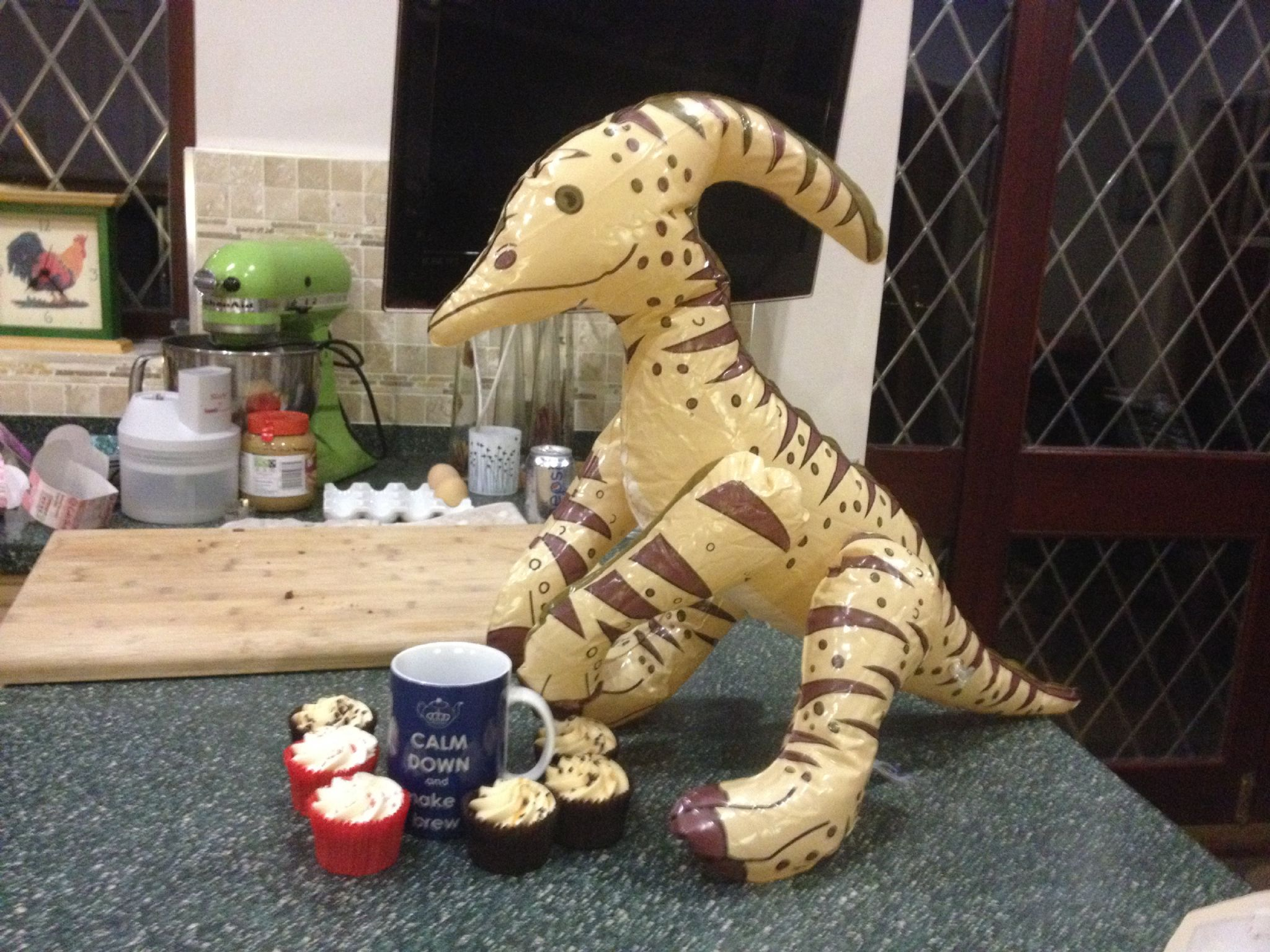 fun-pics-inflatable-dinosaur-coffee-and-cake